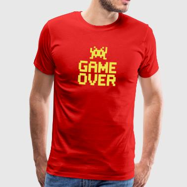 game over with sprite - Premium-T-shirt herr