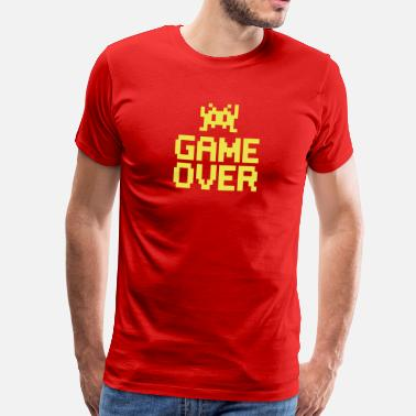 Boom Head Shot game over with sprite - Premium-T-shirt herr
