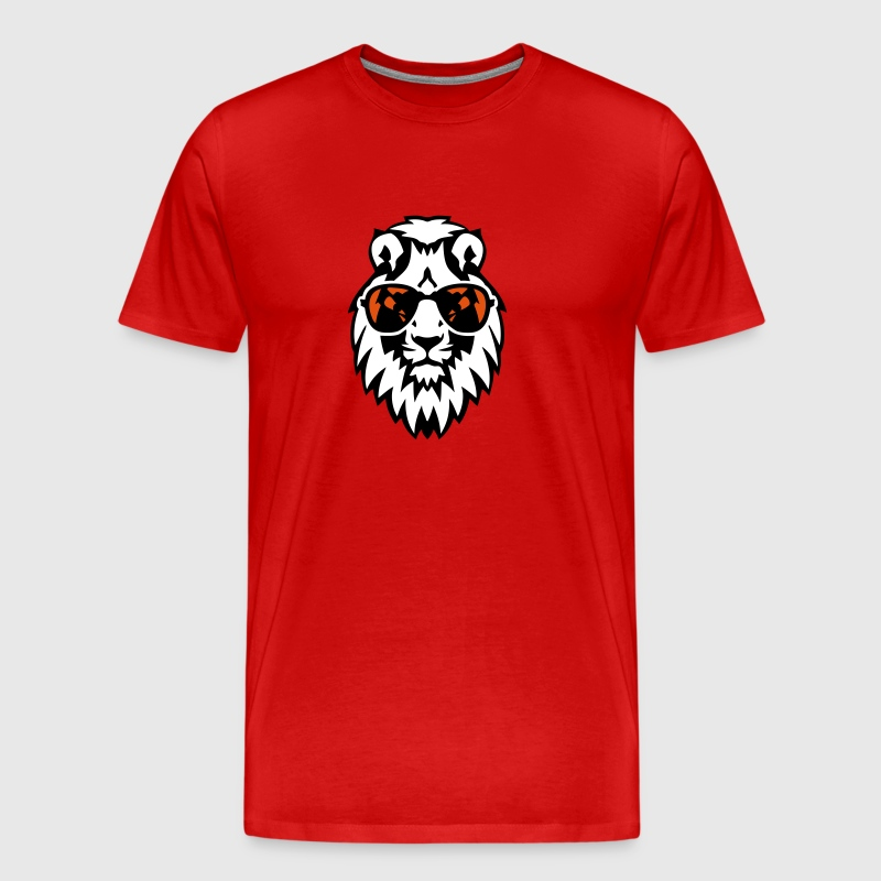 lion lunette soleil animal 12023 - T-shirt Premium Homme