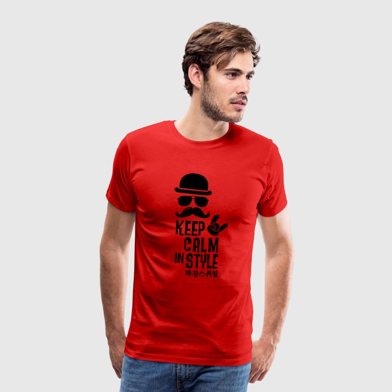 Like a keep calm in style moustache boss t-shirts - T-shirt Premium Homme