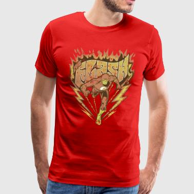 DC Comics Originals The Flash Flame Lettering - Premium T-skjorte for menn