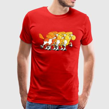 """Icelandic Power"" -Icelandic Horse - Men's Premium T-Shirt"