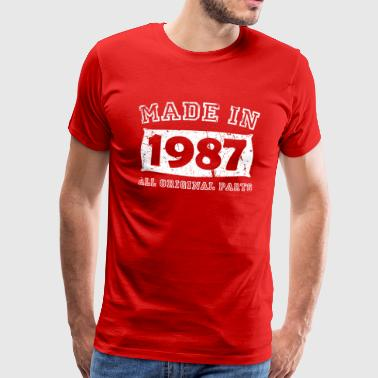 Made In 1987 Birth year birth born in 1987 - Men's Premium T-Shirt