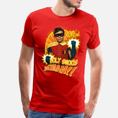 DC Comics Batman Robin Holy Smokes Quote - Mannen Premium T-shirt