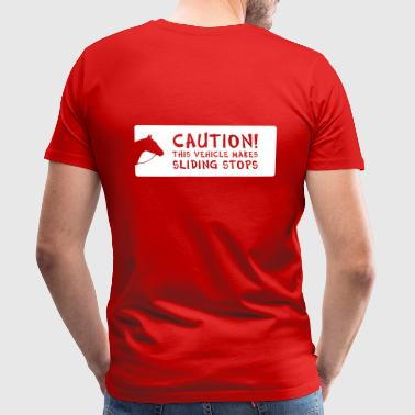 caution - Männer Premium T-Shirt