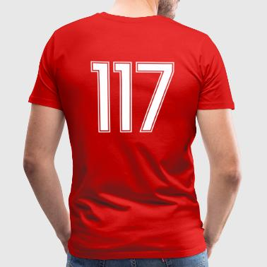 117, Hundertsiebzehn, Hundred Seventeen, Pelibol ™ - Men's Premium T-Shirt