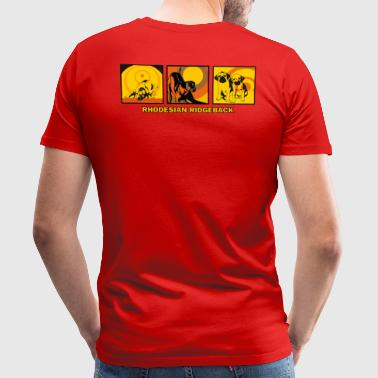 Rhodesian Ridgebacks Pop Art - Premium T-skjorte for menn