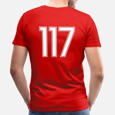Seventeen 117, Hundertsiebzehn, Hundred Seventeen, Pelibol ™ - Men's Premium T-Shirt