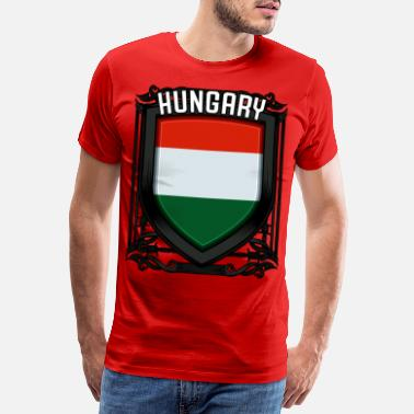 Hungary Hungarian coat of arms Republic of Hungary shield gift - Men's Premium T-Shirt