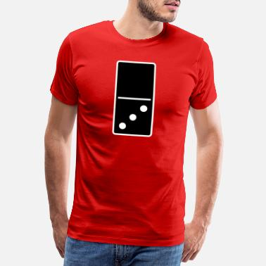 3 Colores DOMINO STONE 0: 3 - COLOR VARIABLE - DISEÑO VECTORIAL! - Camiseta premium hombre