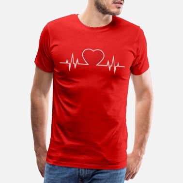 Hrvatska From Croatia with Love - Croatian heart beat white - Männer Premium T-Shirt