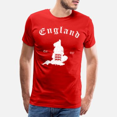 England England Map - Men's Premium T-Shirt