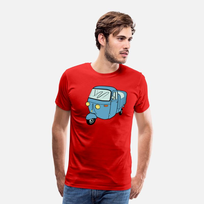 Biker T-Shirts - Ape moped van Vespacar tricycle scooter - Men's Premium T-Shirt red