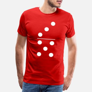 Celebrities Dominos Game Three Five Halloween Costume - Men's Premium T-Shirt