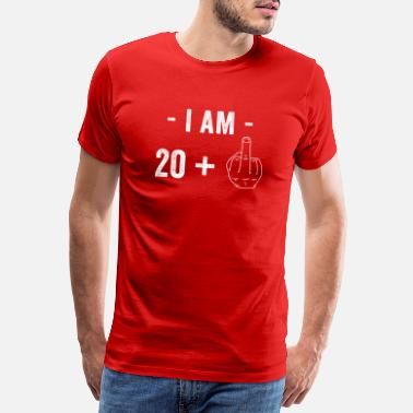 Distressed Birthday I am 20 + 1 Funny Hand - Men's Premium T-Shirt