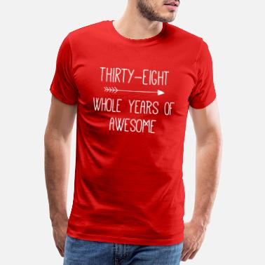 Retro Birthday 38 Whole Years Of Awesome - Mannen premium T-shirt