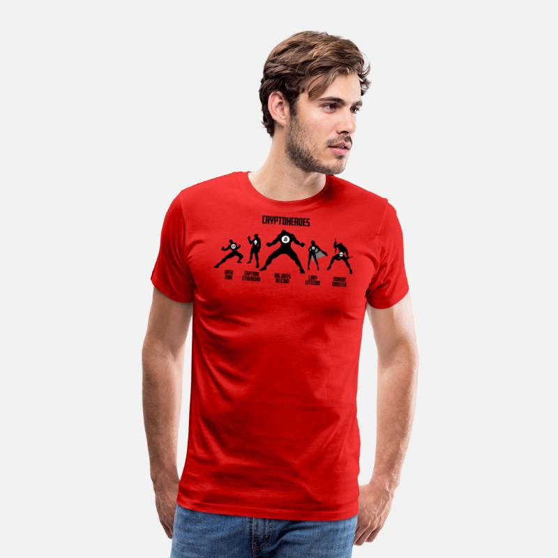 Crypto T-Shirts - Crypto Heroes - Men's Premium T-Shirt red