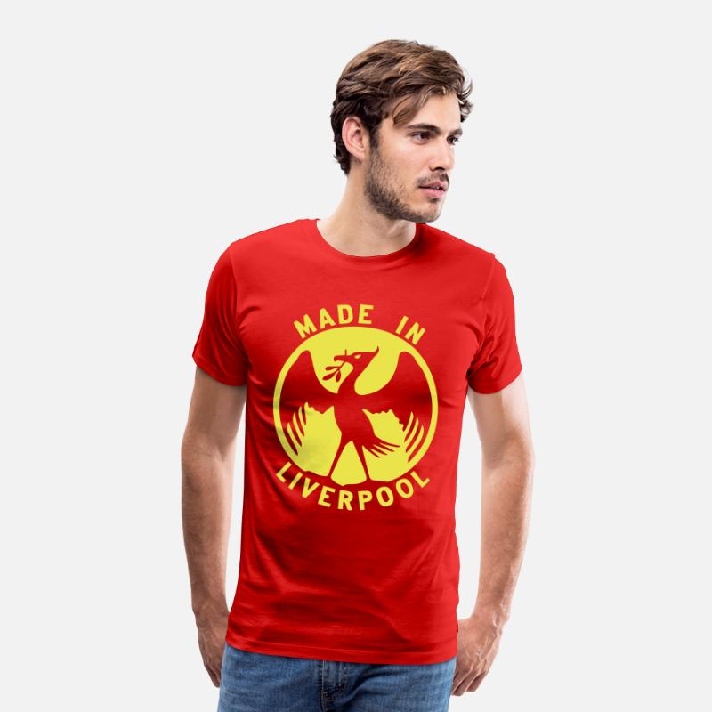 Liverpool T-Shirts - Made in Liverpool Design - Men's Premium T-Shirt red