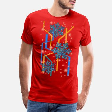 winter snow snowflakes ice snow - Men's Premium T-Shirt