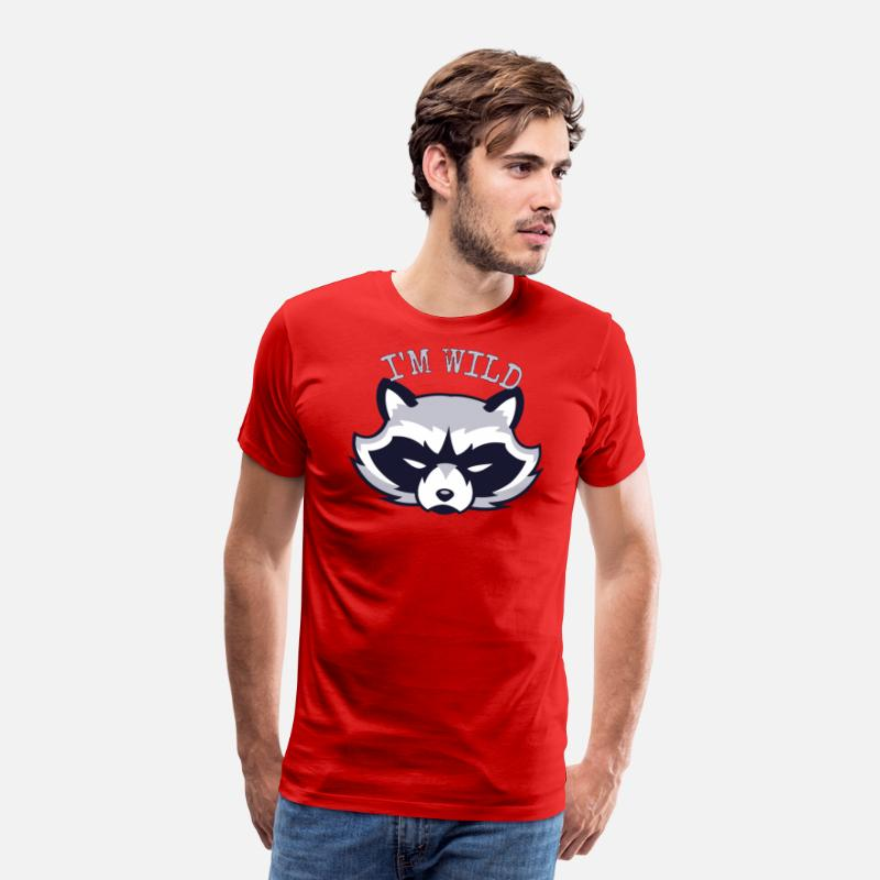 Forest T-Shirts - Basati - Men's Premium T-Shirt red