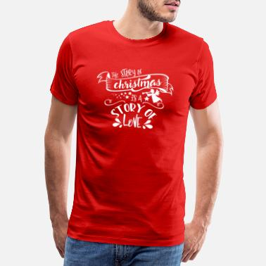 Snow White The story of Christmas is a story of Love white - Men's Premium T-Shirt