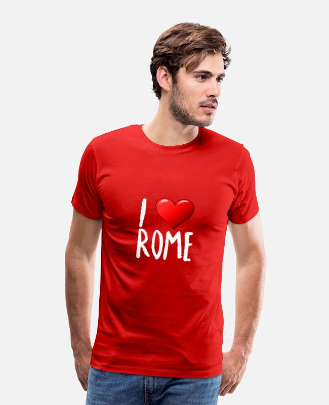 Pizza T-Shirts - I love Rome - Men's Premium T-Shirt red