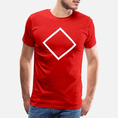 Fiction RectangleOutline Tilt - Männer Premium T-Shirt
