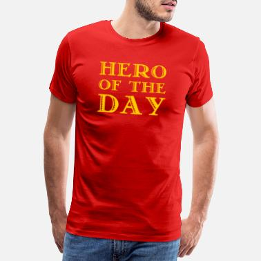 Bester Vater Hero of the Day - Held des Tages - in gelb - Männer Premium T-Shirt