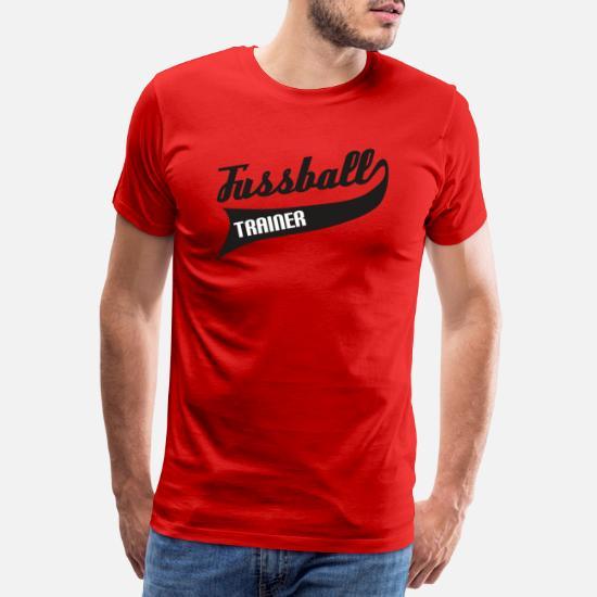 Fussball Trainer Manner Premium T Shirt Rot