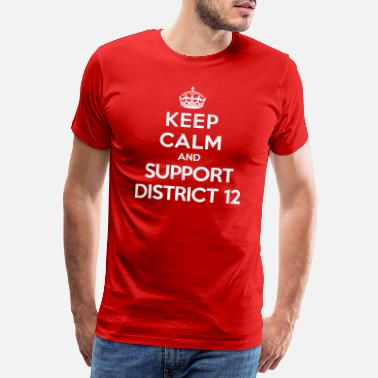 Hunger Keep calm and support District 12 (Hunger Games) - Premium T-shirt herr