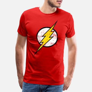 Superhelden DC Comics Justice League Flash Logo - Männer Premium T-Shirt