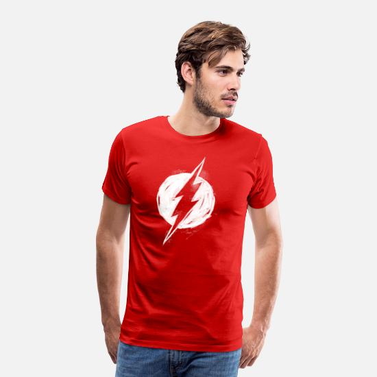 Flash T-shirts - The Flash white milk Logo - Mannen premium T-shirt rood