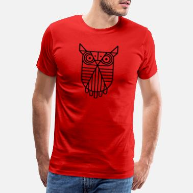 Bird Illustration Owl - Men's Premium T-Shirt