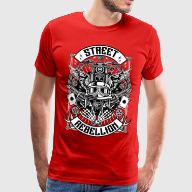 shirt moto - Rue Rebellion (tricolore) - T-shirt Premium Homme