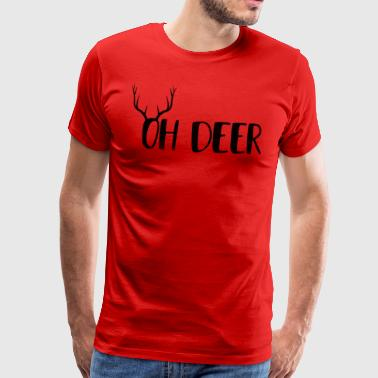 Oh Deer Ugly Christmas Design - Men's Premium T-Shirt