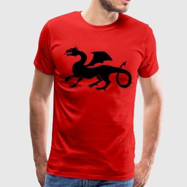 Dragon Middle Age Gift Idea Black - Men's Premium T-Shirt