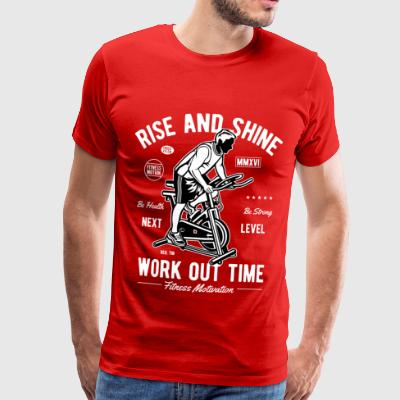 WORK OUT TIME - Sports Work Out Fitness Gym Shirt - Men's Premium T-Shirt