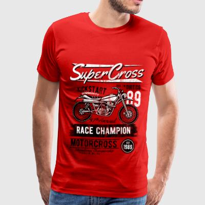 1989 SUPER CROSS - Motorcross Motorcycle Shirt - T-shirt Premium Homme