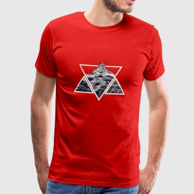 Stylized Geometric Mountain - Men's Premium T-Shirt