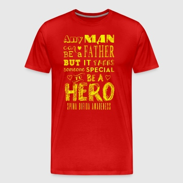Spina Bifida Awareness! Father is a Hero! - Men's Premium T-Shirt