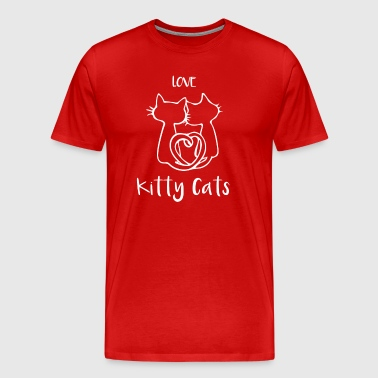 Love Kitty Cat / Cat Lover Tee Shirt für Frauen - Männer Premium T-Shirt