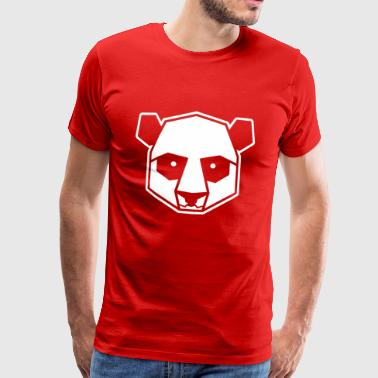 Geometrische Panda Illustration Tier Design - Männer Premium T-Shirt