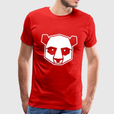 Geometric panda illustration animal design - Men's Premium T-Shirt