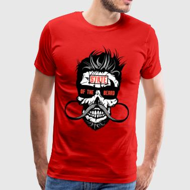 death head state beard hipster bearded beard mustache - Men's Premium T-Shirt