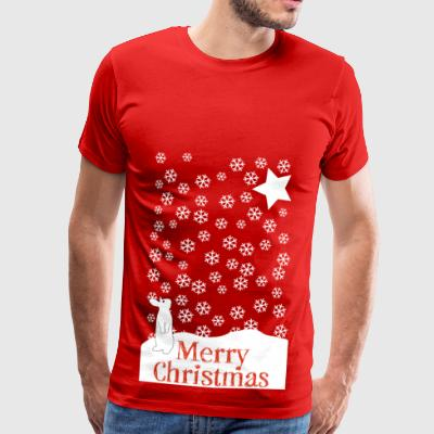 Merry Snow Rabbit - Männer Premium T-Shirt