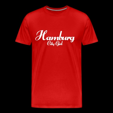 Hamburg City Girl Cities Say - Men's Premium T-Shirt