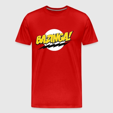 The Big Bang Theory Bazinga! Homme Tee Shirt - T-shirt Premium Homme