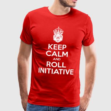 Keep calm and roll initiative - Dnd - Men's Premium T-Shirt