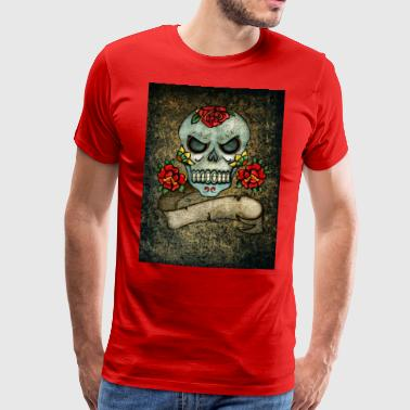 skull and crossbones - Männer Premium T-Shirt