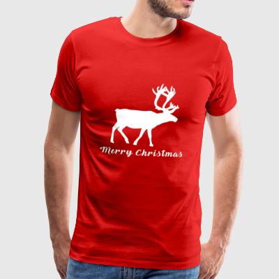 Christmas | Merry Christmas deer deer moose - Men's Premium T-Shirt